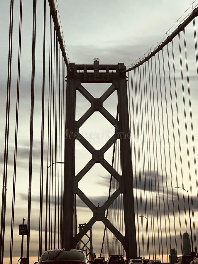 Podpalany most zdjęcia royalty free
