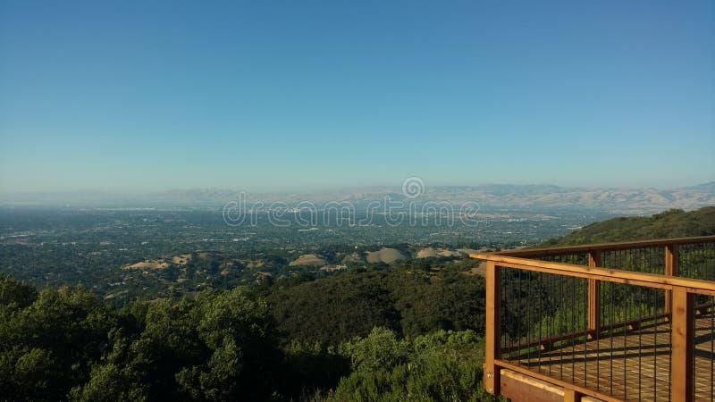 Podpalany teren California zdjęcie royalty free