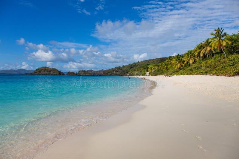 podpalany wyspy karaibskiej wysp John st bagażnik my dziewiczy obrazy royalty free