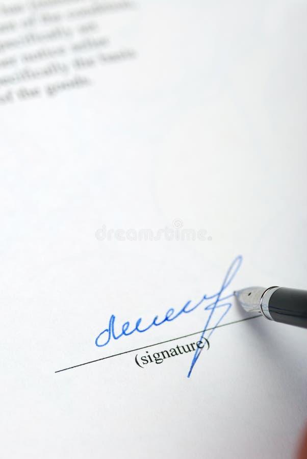 podpis obrazy stock