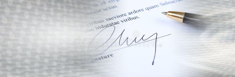 podpis sztandar panoramiczny zdjęcia stock