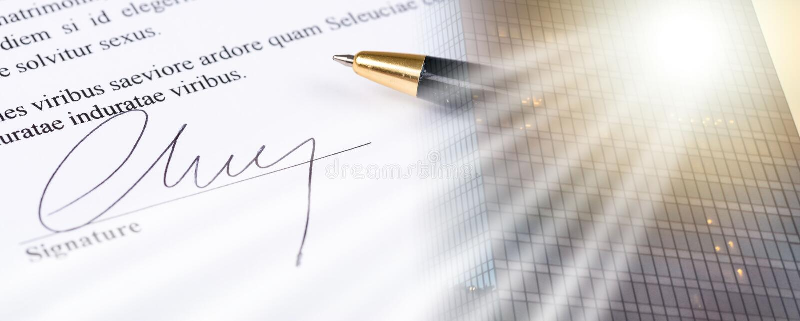Podpis; wieloskładnikowy ujawnienie zdjęcia stock