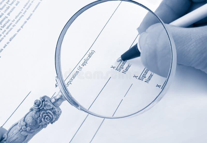 podpisanie biznes obrazy stock