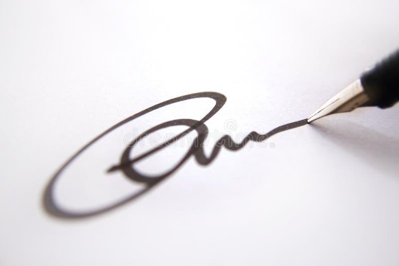 podpisanie listu w interesach fotografia royalty free