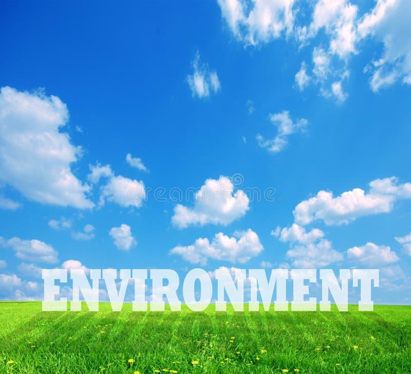 podpisu środowiska zieleni ziemia fotografia stock