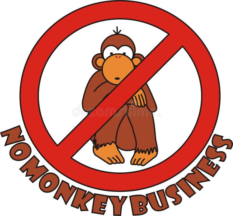 Podpisuje żadny małpiego biznes ilustracji