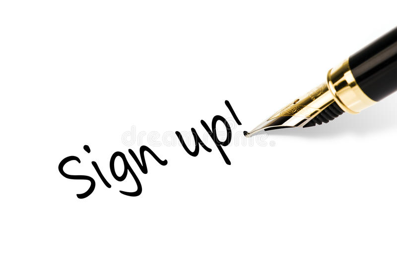 podpisuje podpisywać obrazy royalty free
