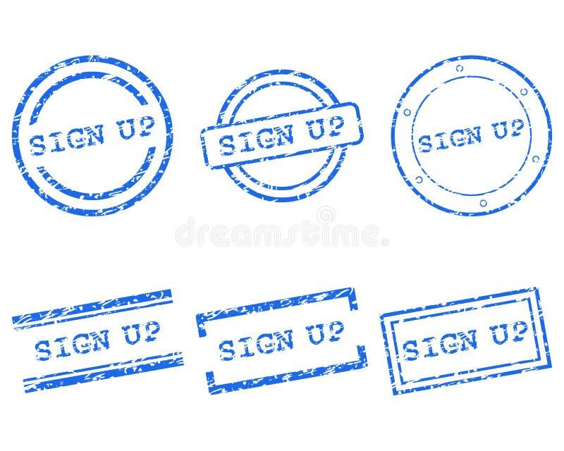 Podpisuje up znaczek ilustracji