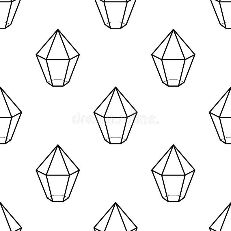 podpisuje wewnątrz gemową krystaliczną ikonę Element Gemowe ikony dla mobilnych pojęcia i sieci apps Deseniowa powtórka bezszwowa ilustracji