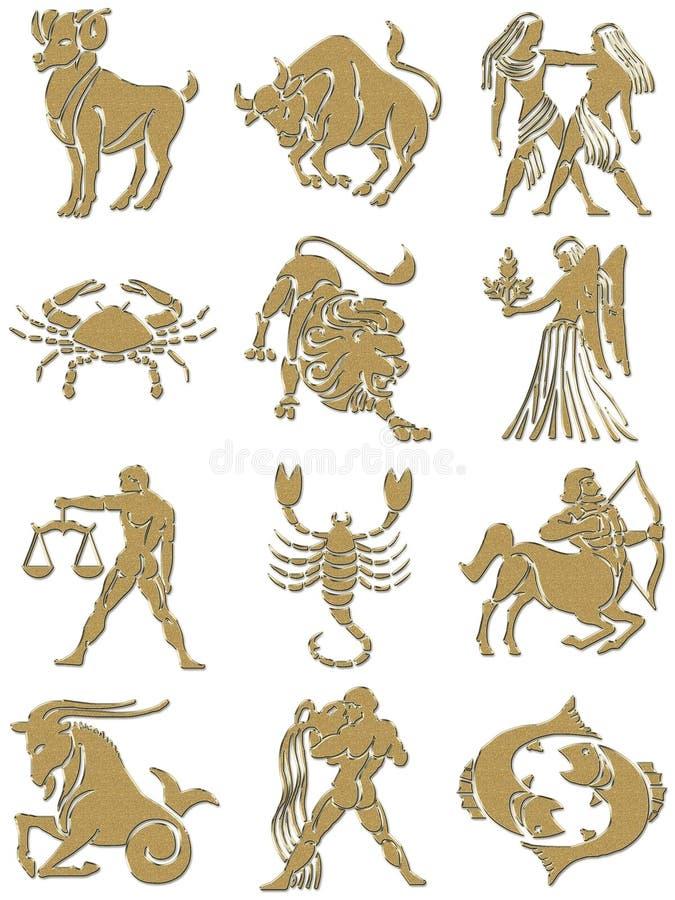 podpisuje zodiaka ilustracja wektor