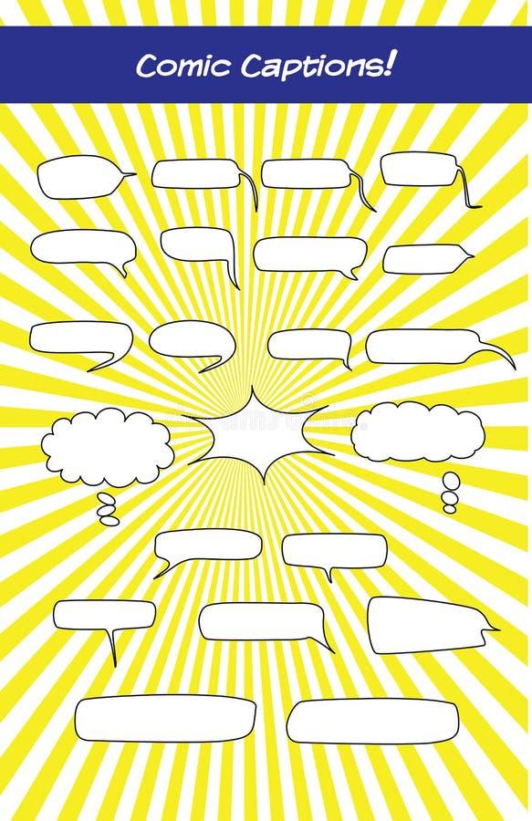 Podpisy dla eLearning dialog i komiczek royalty ilustracja