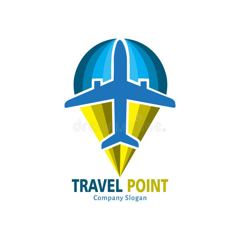 Podróż punktu logo ilustracji