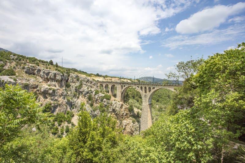 Podróży pojęcia fotografia Indyczy Adana Varda most zdjęcie royalty free