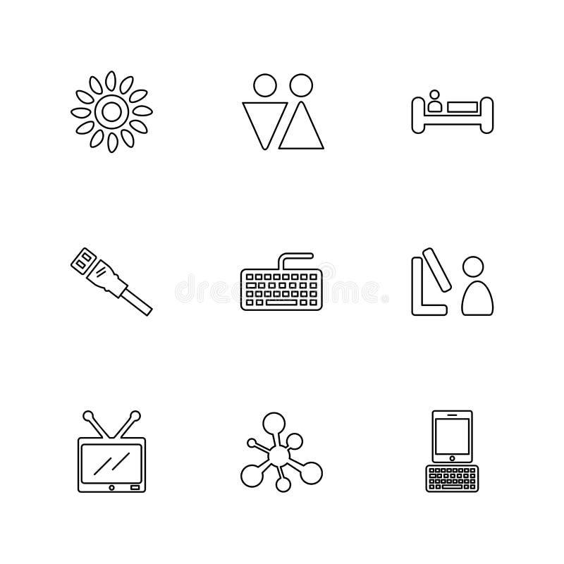 podróż, świętowanie, lato, kierunki, eps ikony ustawia vecto ilustracja wektor