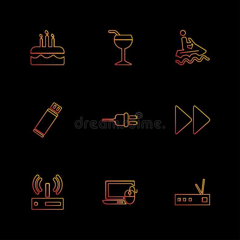 podróż, świętowanie, lato, kierunki, eps ikony ustawia vecto royalty ilustracja