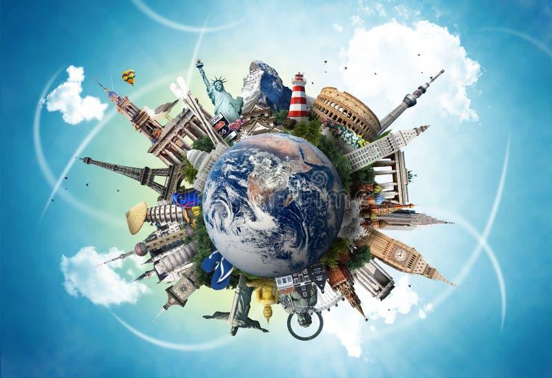 Podróż, światowi punkty zwrotni zdjęcia stock