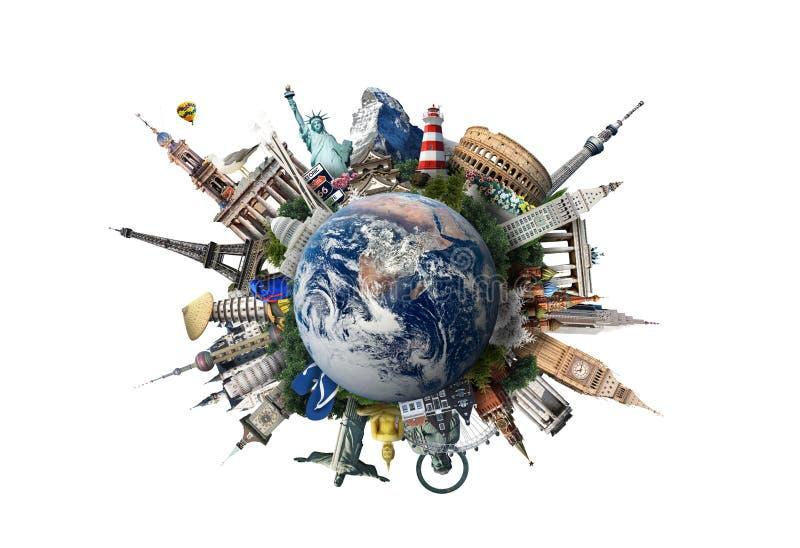 Podróż, światowi punkty zwrotni zdjęcia royalty free