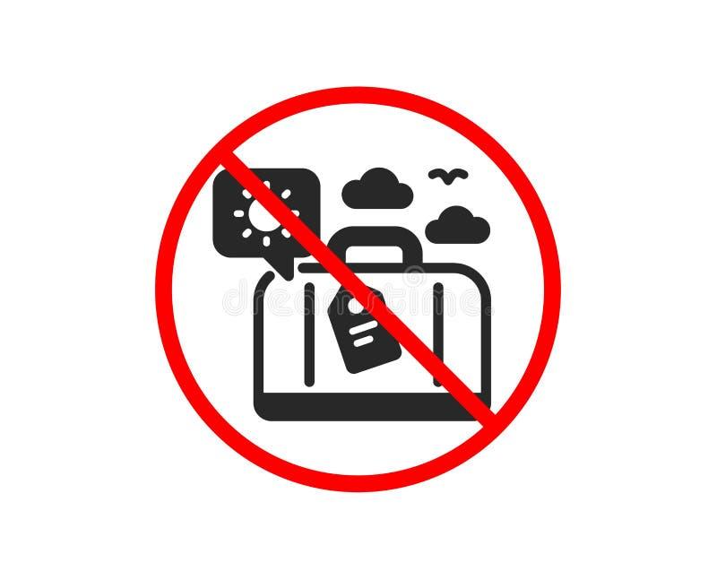 Podróż bagażu ikona Wycieczki torby znak wektor royalty ilustracja