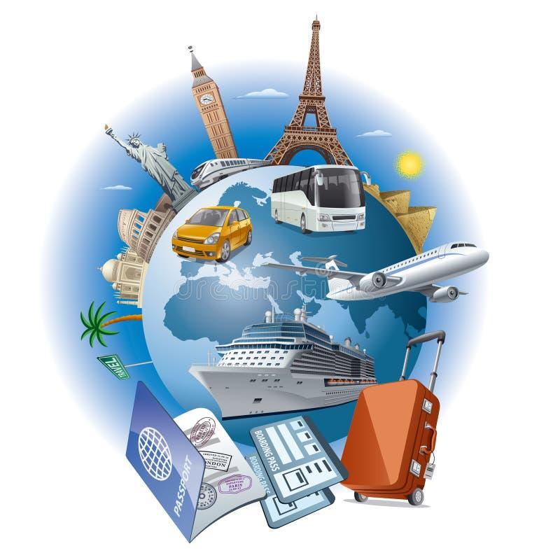 Podróż biznes ilustracja wektor