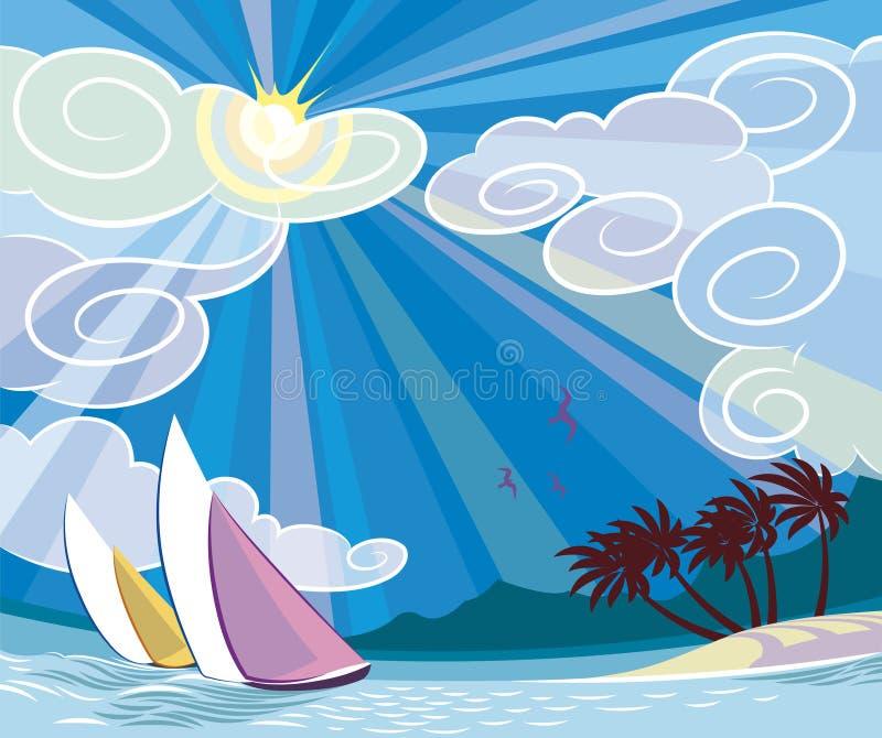 podróż do sunny royalty ilustracja
