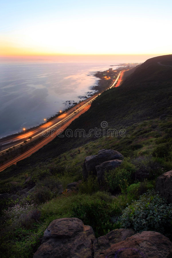 podróż do zachodu słońca fotografia stock