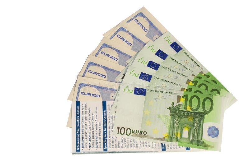 Podróż euro i kratki zdjęcia royalty free