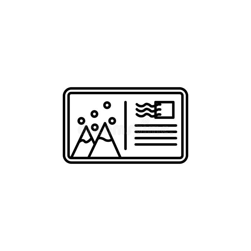 Podróż, góra, jadł, śnieżna kontur ikona Element podróży ilustracja Znaki i symbol ikona mogą używać dla sieci, logo, wisząca ozd ilustracja wektor