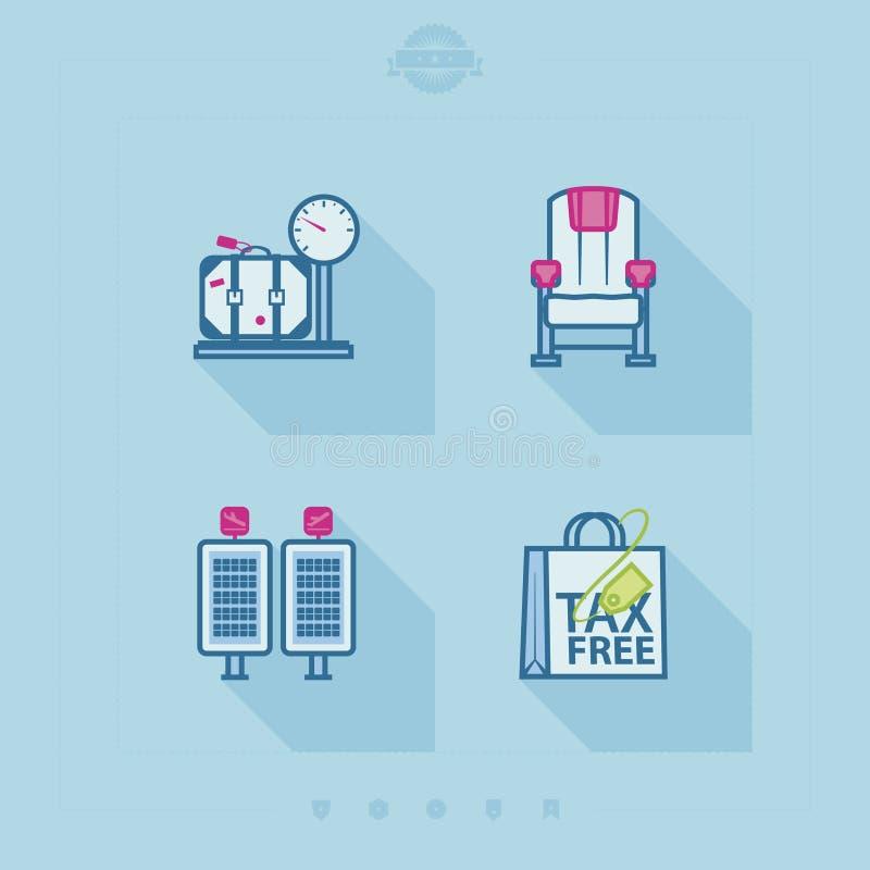 Podróż i lotnisko royalty ilustracja