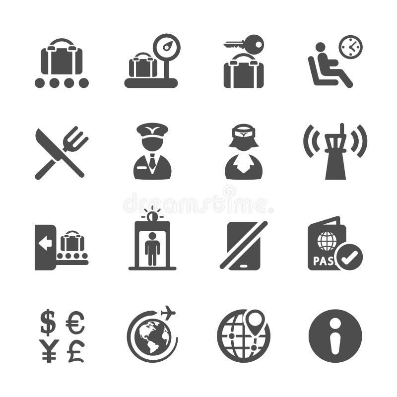 Podróż i lotnisko ikona ustawiamy 2, wektor eps10 ilustracji