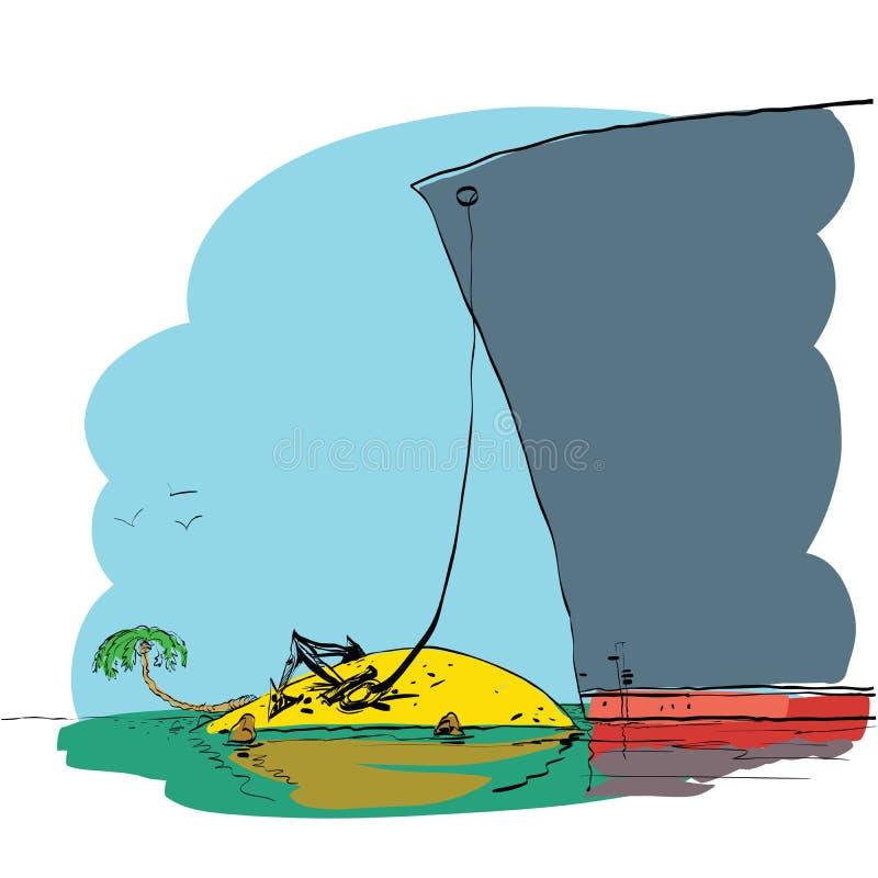 Podróż i rejsy tropikalne wyspy royalty ilustracja