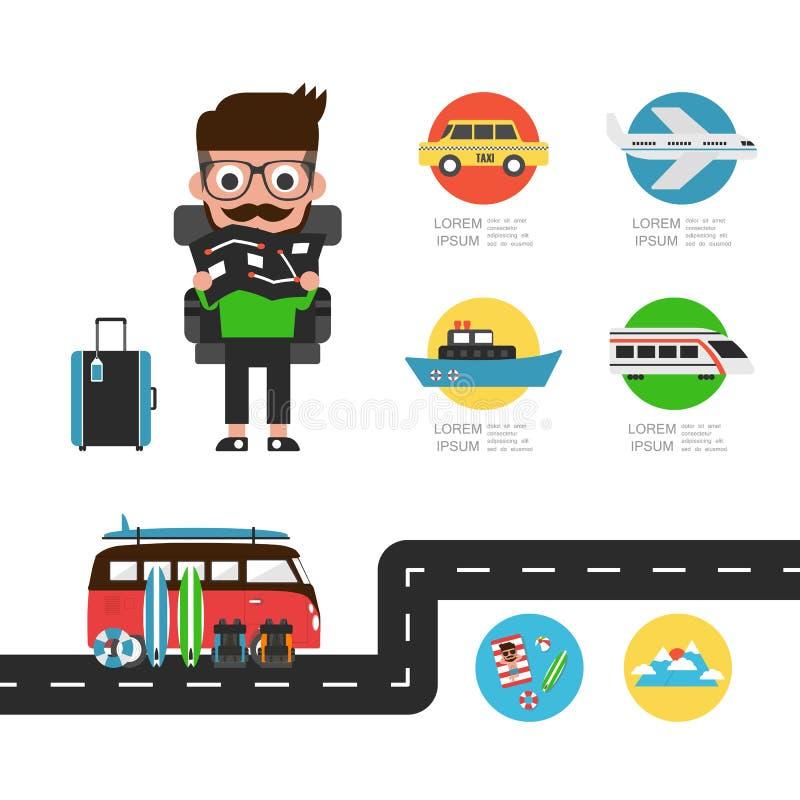 Podróż Infographic royalty ilustracja