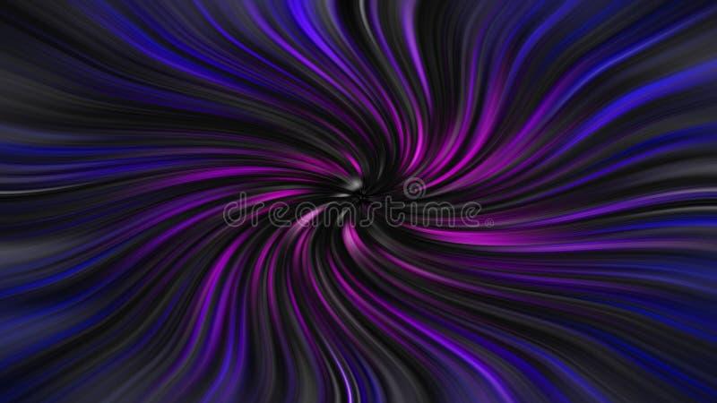 Podróż kosmiczna czasu tunelu łoktuszy prędkości statku kosmicznego gwiazdy wędrówki zoomu światło gra główna rolę galaxy ilustracja wektor