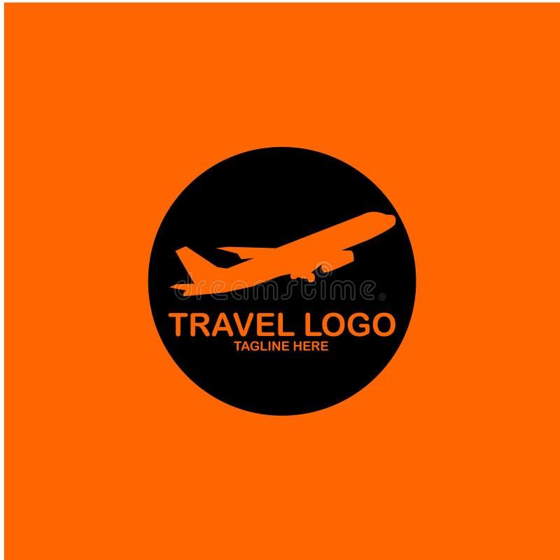 Podróż logo szablonu projekta Wektorowa ilustracja ilustracja wektor