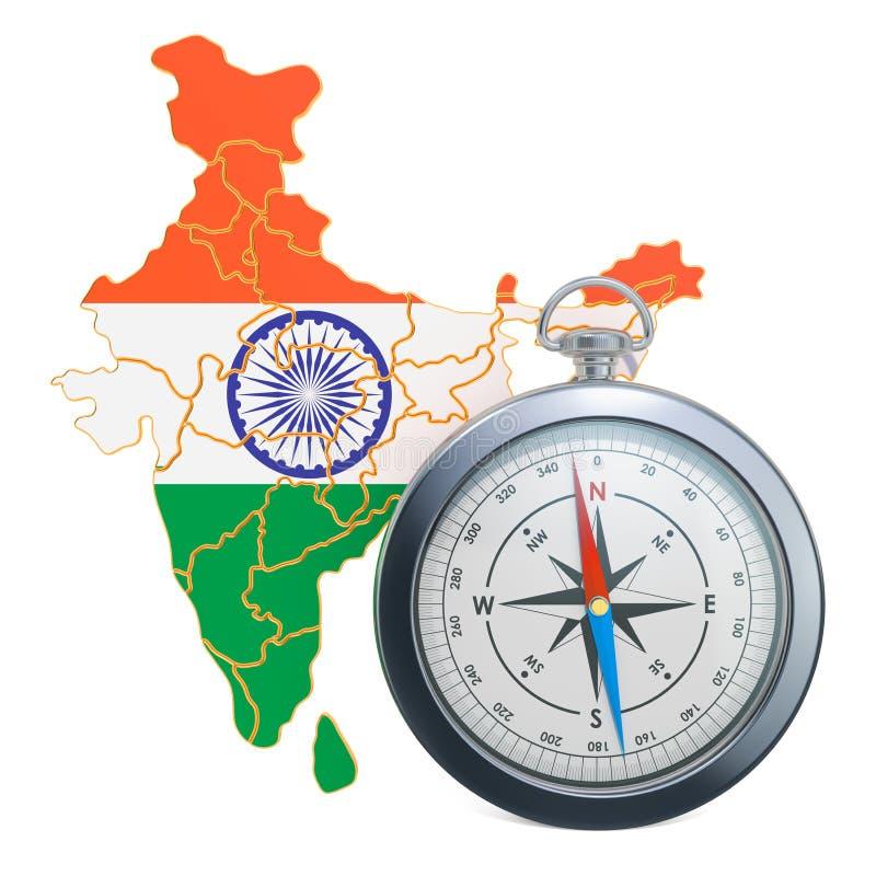 Podróż lub turystyka w India pojęciu ?wiadczenia 3 d ilustracja wektor