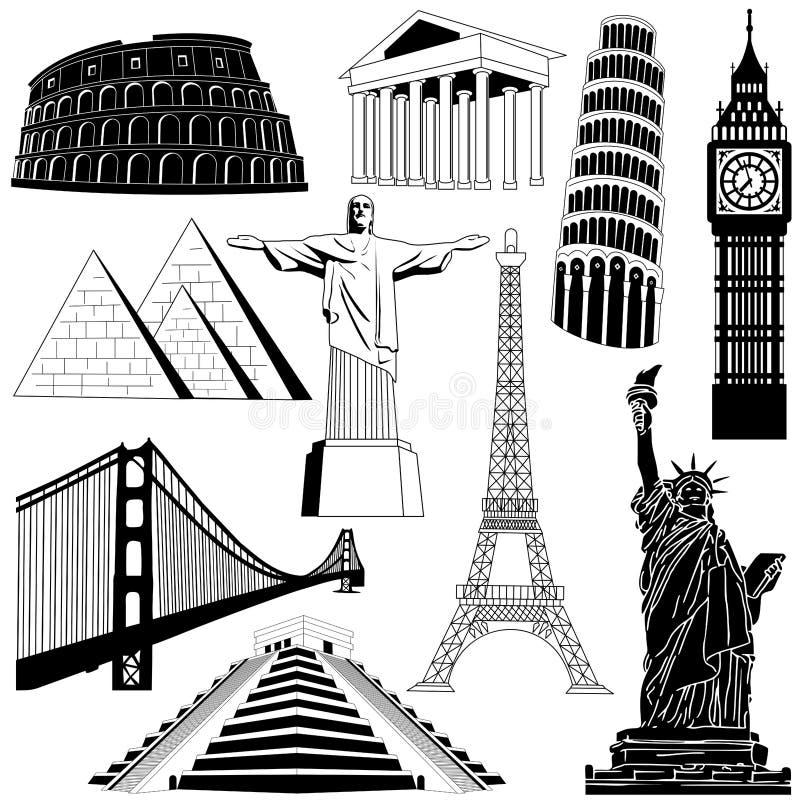 Podróż nad światem royalty ilustracja
