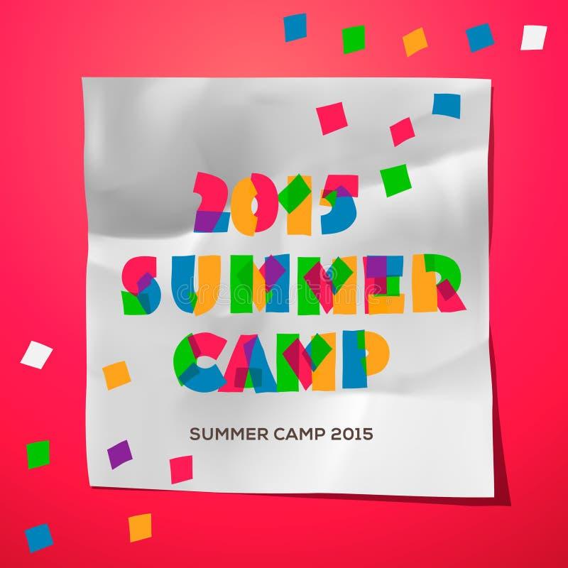 Podróż obozu letniego o temacie plakat ilustracji