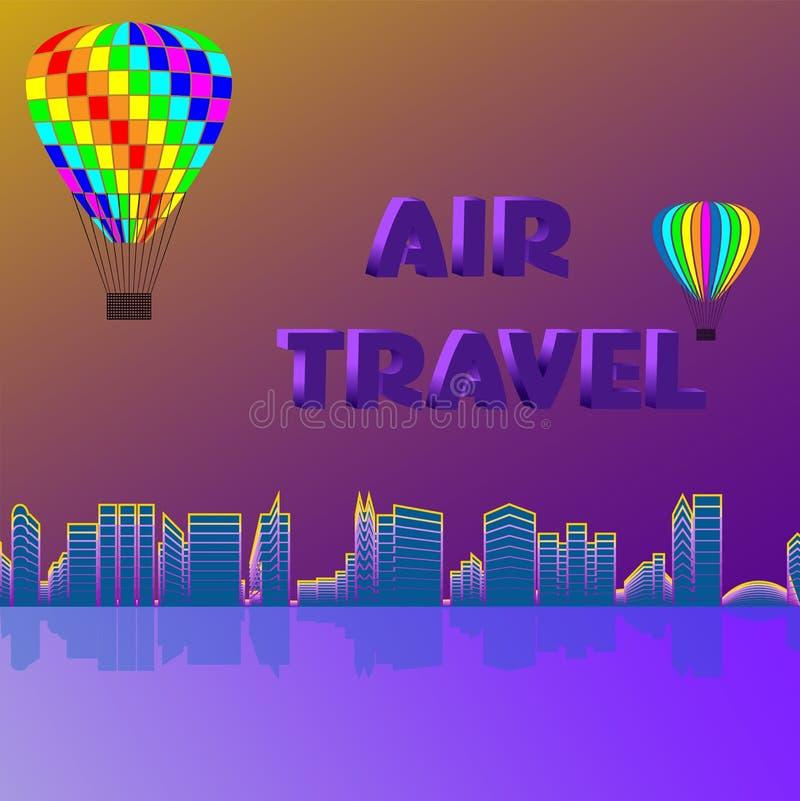 Podróż powietrzna wzdłuż wybrzeża ilustracji