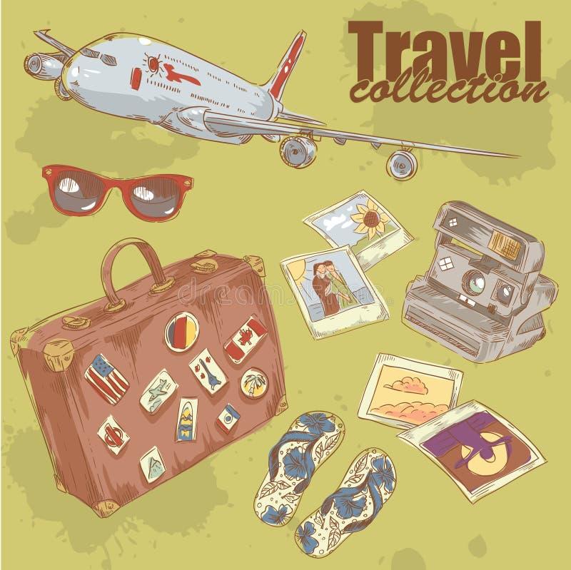 Download Podróż protestuje kolekcję ilustracja wektor. Ilustracja złożonej z ręka - 28965435