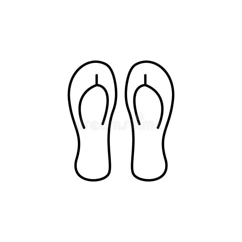 Podróż, punkt kontrolny, metaldetector konturu ikona Element podróży ilustracja Znaki i symbol ikona mogą używać dla sieci, logo, royalty ilustracja