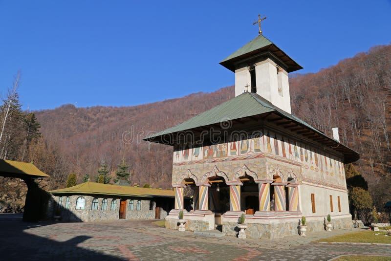 Podróż Rumunia: Lainici monasteru stary kościół zdjęcie stock