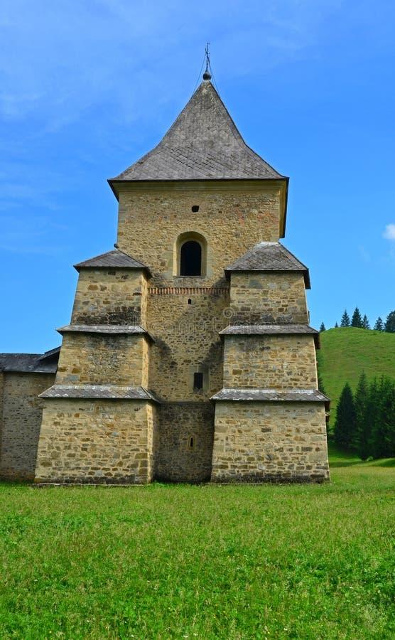 Podróż Rumunia: Wierza Sucevita monaster zdjęcie royalty free