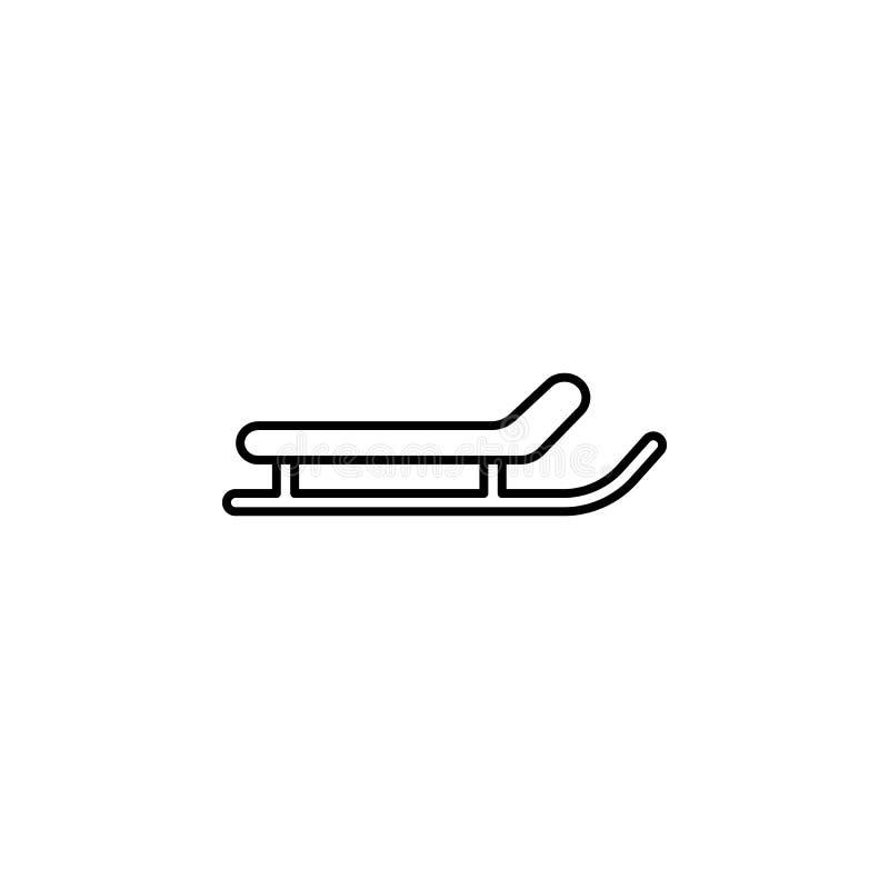 Podróż, snowboard konturu ikona Element podróży ilustracja Znaki i symbol ikona mogą używać dla sieci, logo, mobilny app, UI, ilustracji