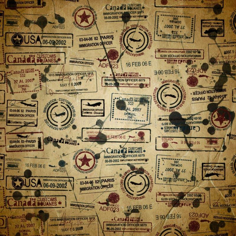 Podróż textured z znaczkiem royalty ilustracja