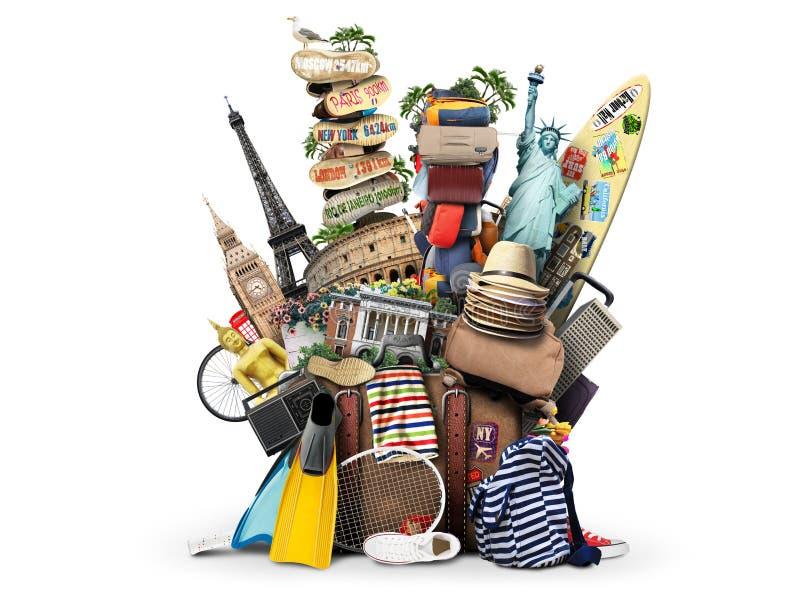 Podróż, towary dla wakacji zdjęcie royalty free