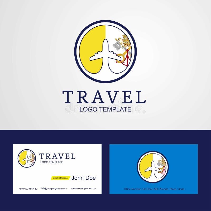 Podróż watykan Święty Widzii Kreatywnie okrąg flagi logo i Busin royalty ilustracja
