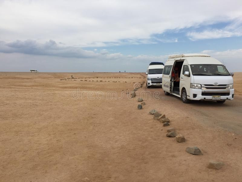 Podróżna synklina pustynia zdjęcie royalty free