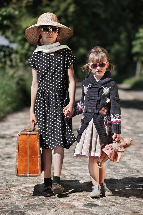 Podróżne dziecko dziewczyny fotografia stock