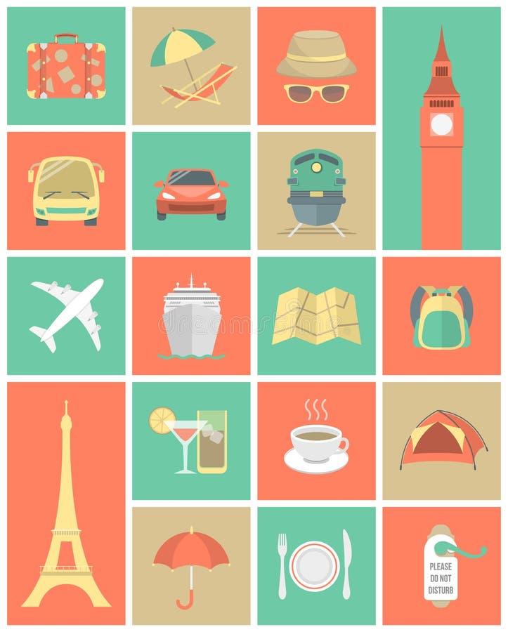 Podróżne ikony Ustawiają 1 royalty ilustracja