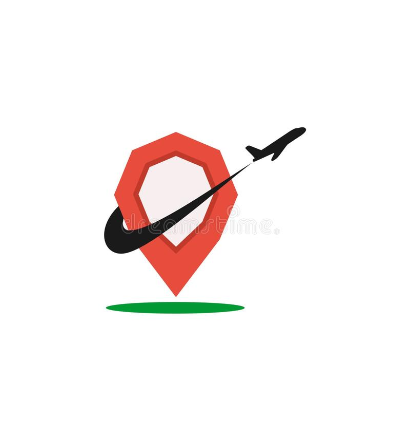 Podróżnego Firma logo zdjęcia royalty free