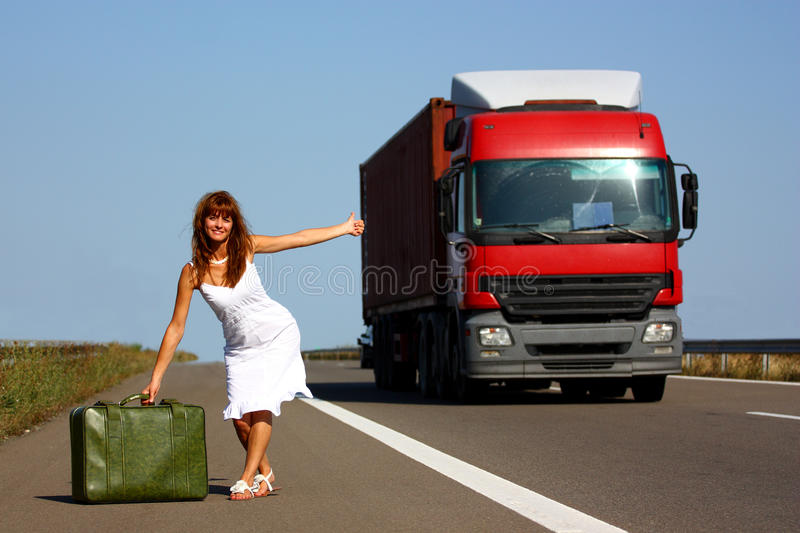 podróżnik kobieta obrazy stock
